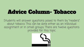 Tobacco Advice Column