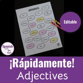 Toca La Palabra Game: Adjectives