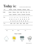 Today Is...Daily Calendar Worksheet