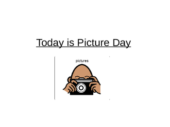 Today is Picture Day Social Story
