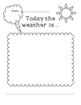 Today the weather is... response sheet