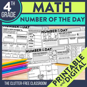 4th GRADE NUMBER OF THE DAY | NUMBER SENSE | MATH MORNING