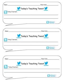 Art Exit Slip: Today's Teaching Tweet