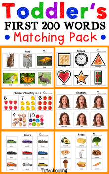 Toddler Matching Pack - First 200 Words