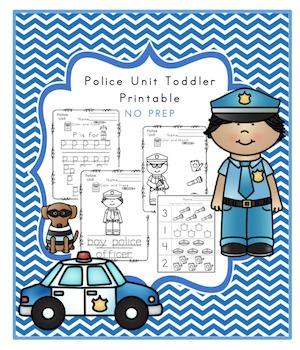 Toddler Police Unit No Prep