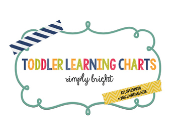 Toddler / Preschool Learning Charts