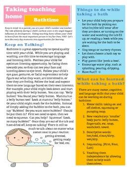 """Taking Teaching Home:  Bathtime"" Parent Handout"