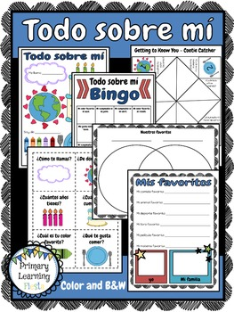 Todo Sobre Mí - Getting to Know You Activities in Spanish
