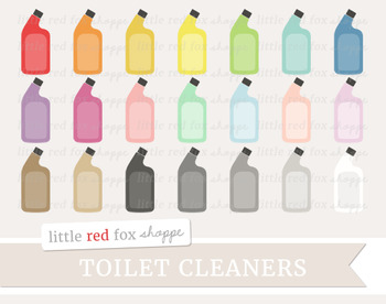 Toilet Cleaner Clipart; Cleaning