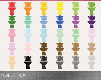 Toilet Seat Digital Clipart, Toilet Seat Graphics, Toilet