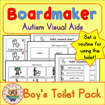 Toilet Visual Pack (boy) - Boardmaker Visual Aids for Autism