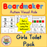 Toilet Visual Pack (girl) - Boardmaker Visual Aids for Autism