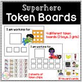 Token Boards (superhero theme) Positive Behavior Managemen