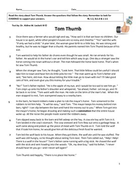 Tom Thumb Story Test