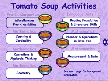 Tomato Soup - Traditional Math & Language Arts - ActivInspire