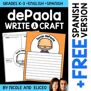 Tomie dePaola Author Study Craft