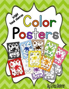 Color Posters: Tonal Chevron