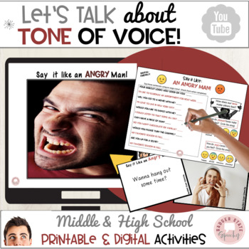 Social Skills: Tone of Voice, Teaching Materials for Middl