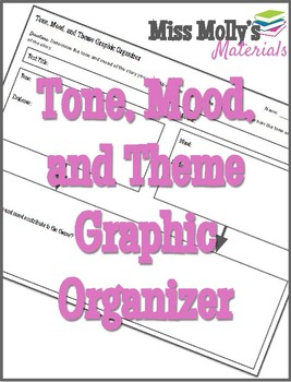 Tone, Mood, and Theme Graphic Organizer