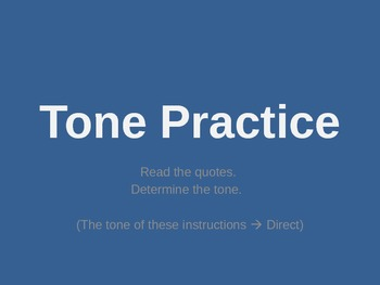 Tone Practice Powerpoint - Includes tone word list