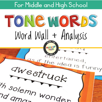 Tone Words Posters and Analysis Practice
