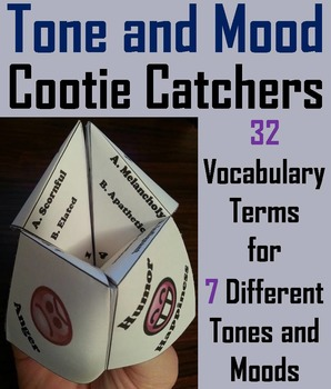 Tone and Mood Activity/ Vocabulary Practice Game 4th, 5th,