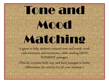 Tone and Mood Matching Game