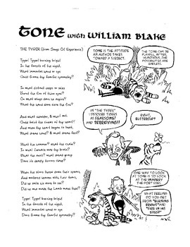 William Blake Explains Tone: A Poetry Comic with Activitie