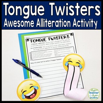 Tongue Twisters: Alliteration Writing Activity