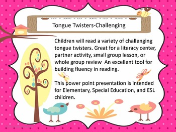 Tongue Twisters-Challenging
