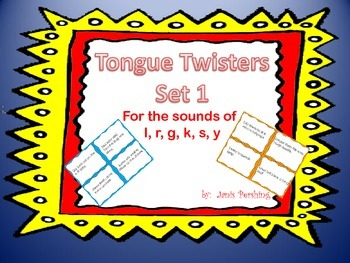 Tongue Twisters Set 1