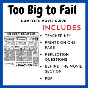 Too Big to Fail - Complete Movie Guide