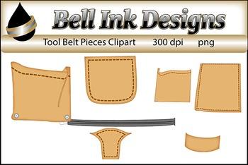 Tool Belt Pieces Clipart