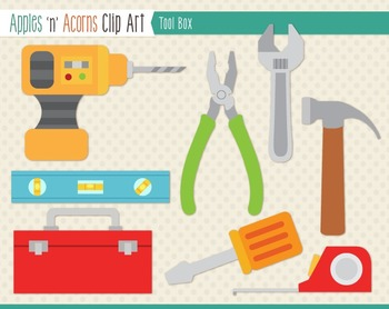 Tool Box Clip Art - color and outlines
