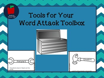 Tool Cards for Word Attack to use in Guided Reading/Small Groups