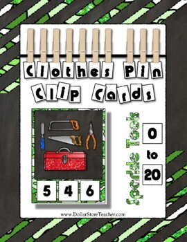 Tool Clip Counting Math Center ~ They Sparkle ~ Add to you