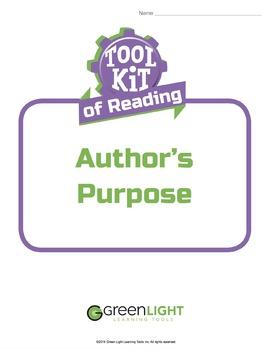 Toolkit of Reading: Author's Purpose