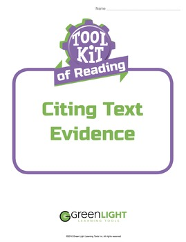 Toolkit of Reading: Citing Text Evidence
