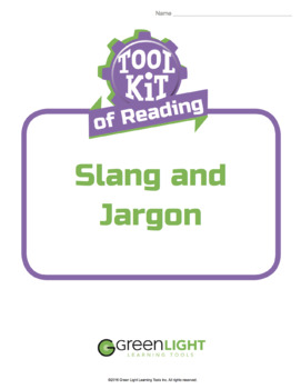 Toolkit of Reading: Slang and Jargon
