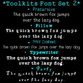 Toolkits Fonts Set 2 Clip Art CU OK
