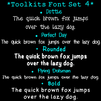 Toolkits Fonts Set 4 Clip Art CU OK