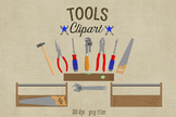 Tools Clipart, Construction Tools and Toolbox