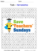 Tools in Spanish Worksheets, Games, Activities and Flash Cards