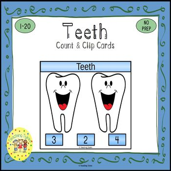Teeth Count and Clip Task Cards