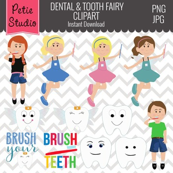 Tooth Fairy Clipart, Dental Clipart, Dentist Clipart, Lost