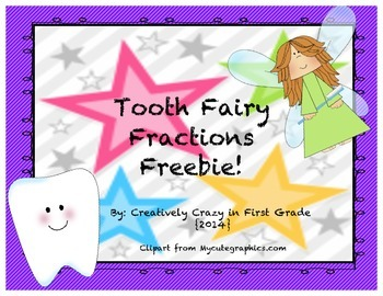 Tooth Fairy Fractions Freebie (whole, halves, thirds, and