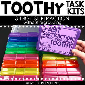Toothy™ Task Kits - 3 Digit Subtraction without Regrouping