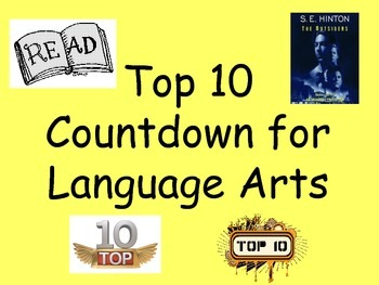 Top 10 Countdown for Language Arts