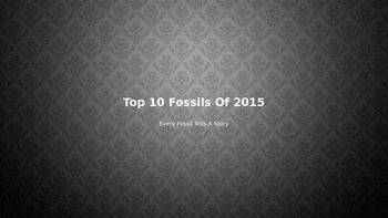 Top 10 Fossils of 2015 - Power Point - Pictures of the top