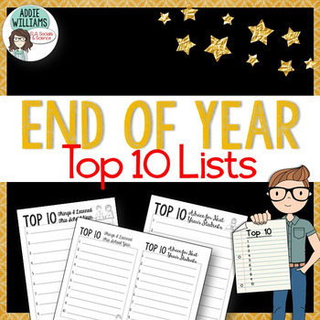 End of the Year Writing - Top 10 List